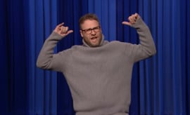 "Seth Rogen Dancing ""Hotline Bling"""