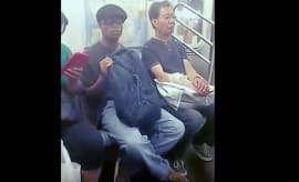 Subway masturbator gets shamed.