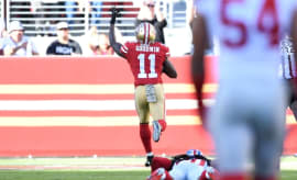 Marquise Goodwin scores against the Giants.