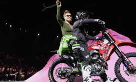Rihanna at Fenty Spring 2018 runway show