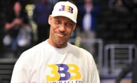 LaVar Ball at a Lakers preseason game.