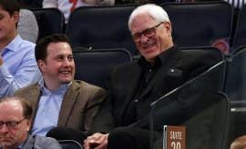 phil jackson in stands