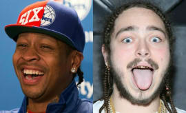 Allen Iverson and Post Malone