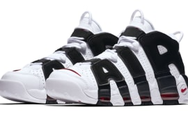 Nike Air More Uptempo White Black Varsity Red
