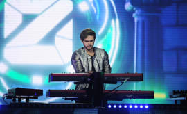 DJ Zedd performs onstage during the 2016 Nickelodeon HALO Awards