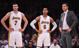 Luke Walton Larry Nance Jordan Clarkson Lakers Grizzlies 2017