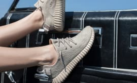 Moonrock Yeezys On Feet