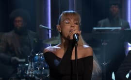"This is Ariana Grande performing ""Jason's Song"" on 'The Tonight Show.'"