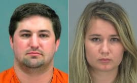 Mugshots of Arizona couple who abandoned child to play Pokemon Go.