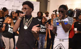 Rich Homie Quan and Young Thug performs at the Collection Launch