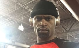 Stephen Jackson snaps photo of himself for Instagram.