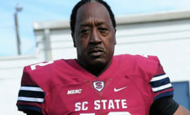Joe Thomas, Sr. is the oldest Division 1 college football player ever