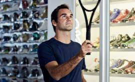 Roger Federer Sneaker Shopping