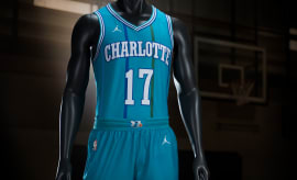 Charlotte Hornets Nike Classic Edition Throwback Jersey 3
