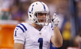 Pat McAfee points out where he wants his punt to land.