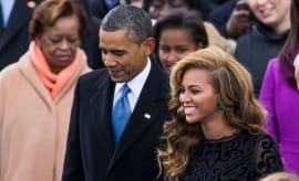 Beyonce with President Barack Obama