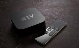 Apple TV device and Siri remote control