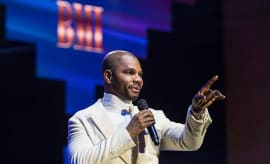 This is a photo of Kirk Franklin.