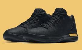 Air Jordan 31 Low Black/Gold Release Date Main 897564-023