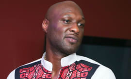 Lamar Odom at an album release party.