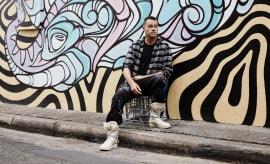 Australian graffiti writer Phibs in Nike SF AF-1 Hi.