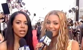 This is Beyoncé interviewing Aaliyah at the 2000 MTV Movie Awards.