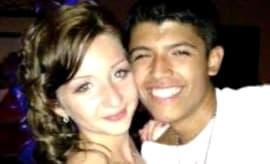 Pedro Ruiz and Monalisa Perez take a photo together.