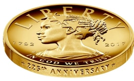 Lady Liberty 225th Anniversary Coin