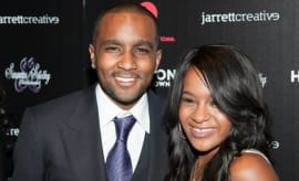 This is a photo of Bobby Kristina Brown and Nick Gordon.