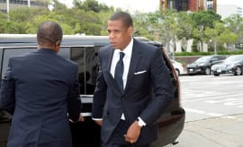 Jay Z arrives at United States District Court