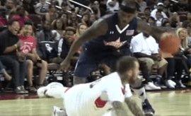 Bone Collector breaks Mac Miller's ankles.