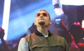 Chris Brown performs on stage during the HOT 97 Summer Jam