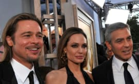 Brad Pitt, Angelina Jolie, and George Clooney.