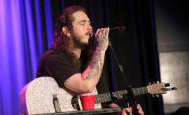 Post Malone performs at Spotlight: Post Malone at The GRAMMY Museum