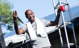 Fredrick Tipton aka Freddie Gibbs perfoms live at the 2015 TIME Festival