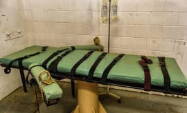 A lethal injection bed in New Mexico.