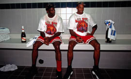 Michael Jordan Scottie Pippen Post Game
