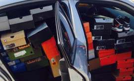 car-full-sneakers