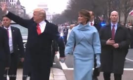 Donald Trump bodyguard fake hands