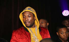Meek Mill attends his New Year's Eve Pre-party on December 30, 2016