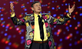 Craig Sager delivers a speech at the 2016 ESPY Awards.