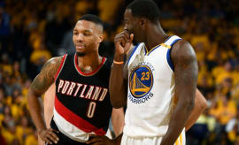 Damian Lillard and Draymond Green talk trash.