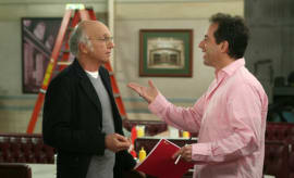 Jerry Seinfeld and Larry David chop it up on 'Curb Your Enthusiasm.'