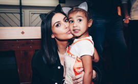 Kim Kardashian and North West attend Ariana Grande concert
