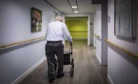 A man in a nursing home.
