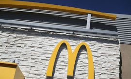 McDonald's logo outside of restaurant.