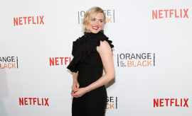 Actress Taylor Schilling attends the premiere of 'Orange is the New Black'
