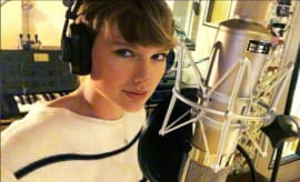 Taylor Swift in the Studio