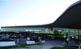 A photo of Graz Airport in Austria from Wikimedia Commons.