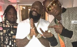This is a photo of Wale, Rick Ross, Young Thug